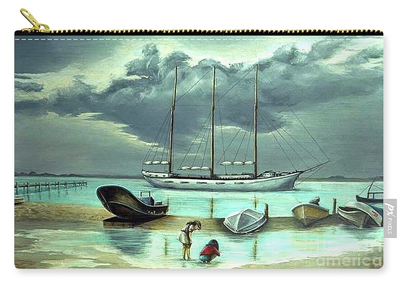 Fuqua Gallery-bev-artwork Carry-all Pouch featuring the painting Isle Of Mujeres by Beverly Fuqua