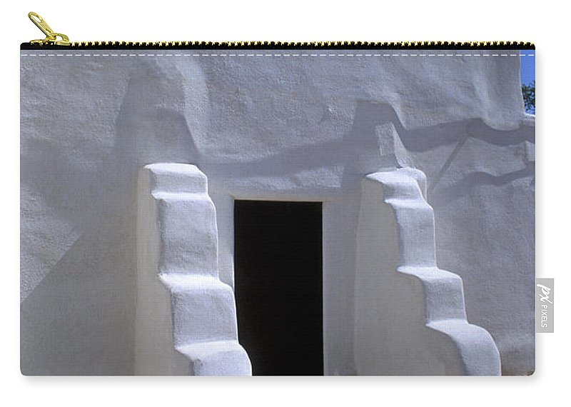 Adobe Carry-all Pouch featuring the photograph Isleta by Jerry McElroy