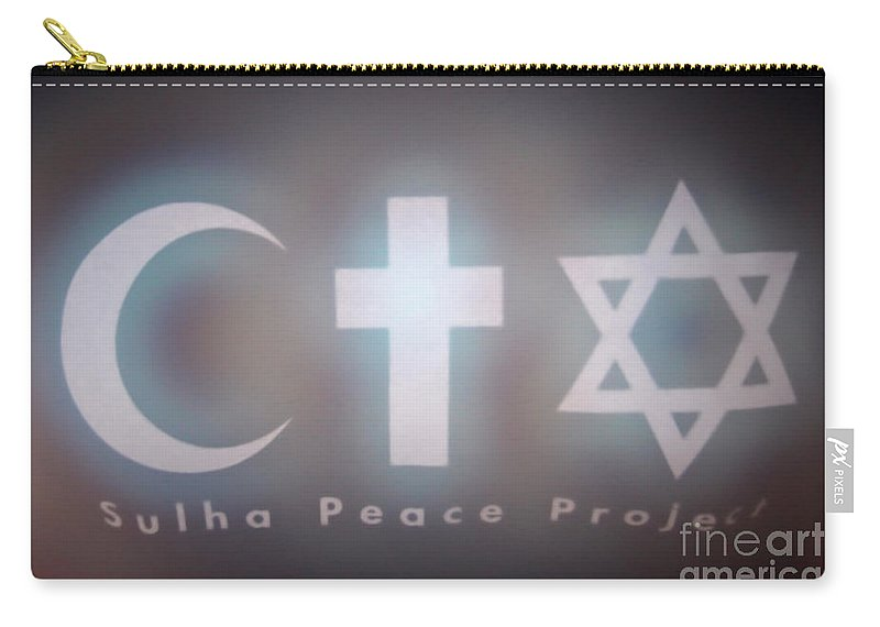 Peace Carry-all Pouch featuring the photograph Israel Palestinian Cooperation by Chen Leopold