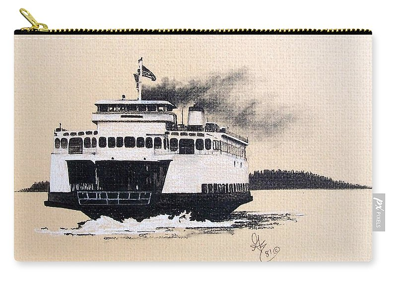 Ferry Carry-all Pouch featuring the pastel Issaquah by Gale Cochran-Smith