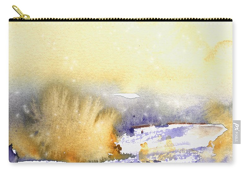 Watercolour Carry-all Pouch featuring the painting It Is Always Snowing Somewhere 02 by Miki De Goodaboom