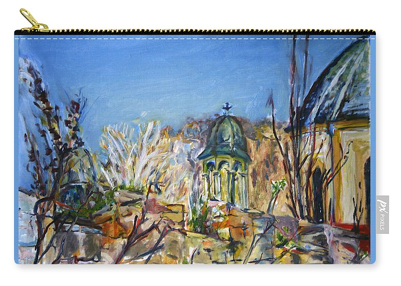 Landscape Carry-all Pouch featuring the painting It Isnt Visible Anyway by Pablo de Choros