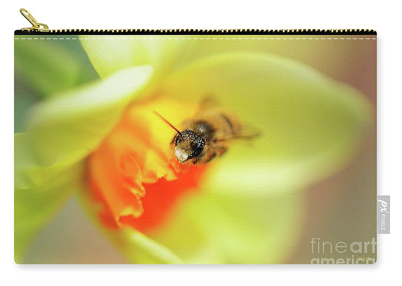 Bee Carry-all Pouch featuring the photograph It Just Wouldn't Bee Spring Without ... by Lois Bryan