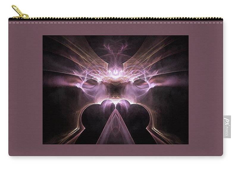 Abstract Art Carry-all Pouch featuring the digital art It Oversees by Stanley Magendanz