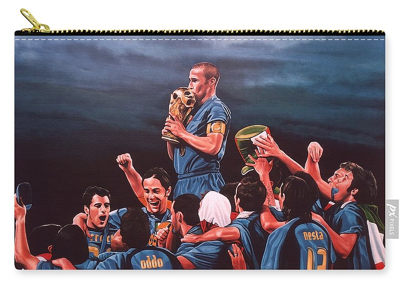 Italia Carry-all Pouch featuring the painting Italia The Blues by Paul Meijering