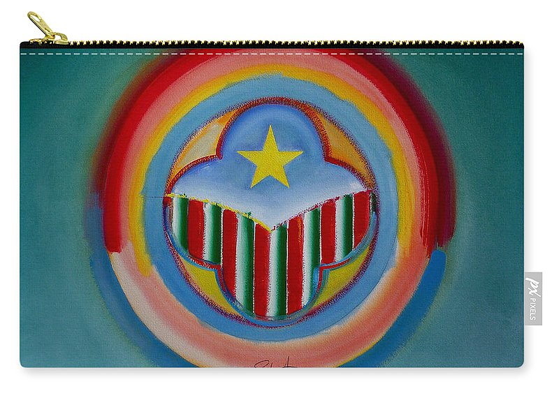 Button Carry-all Pouch featuring the painting Italian American by Charles Stuart
