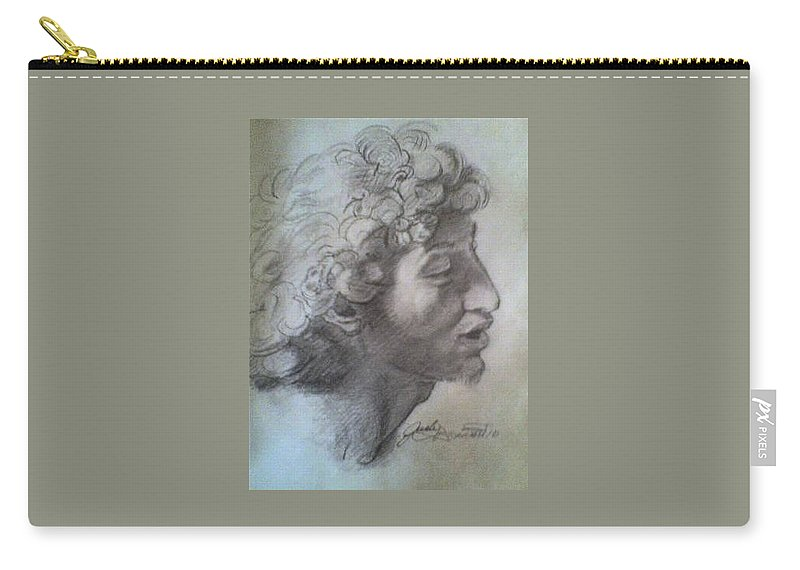 Carry-all Pouch featuring the painting Italian Boy by Jude Darrien