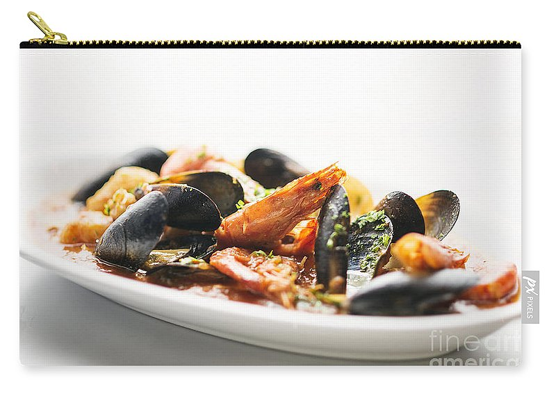 Classic Carry-all Pouch featuring the photograph Italian Traditional Seafood Stew by Jacek Malipan