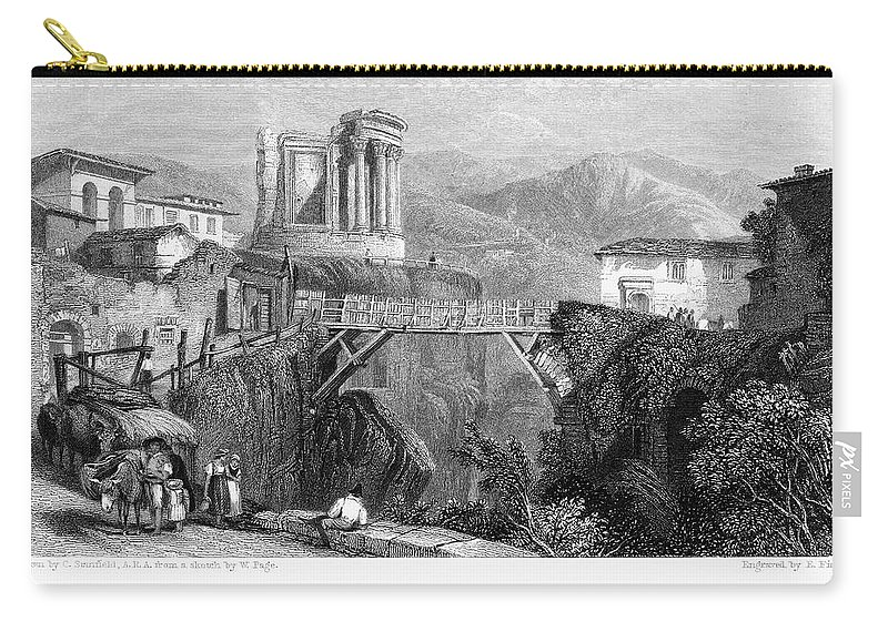 1832 Carry-all Pouch featuring the photograph Italy: Tivoli, 1832 by Granger