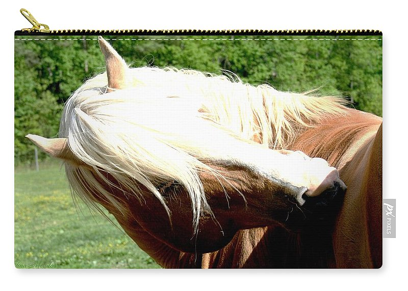 Horse Carry-all Pouch featuring the photograph Itchy Spot by Tina Meador