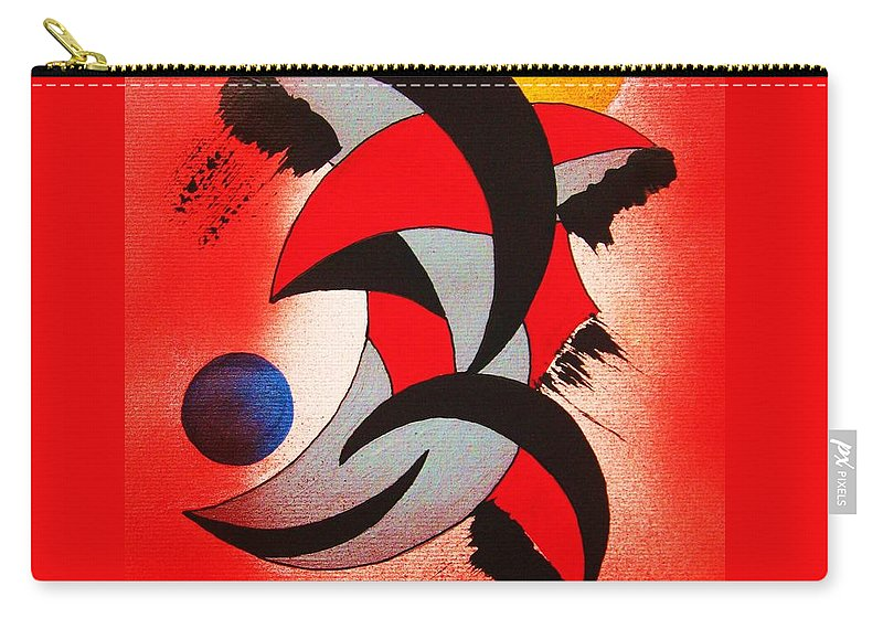 Abstract Carry-all Pouch featuring the painting Ito-kina Doryoku by Roberto Prusso
