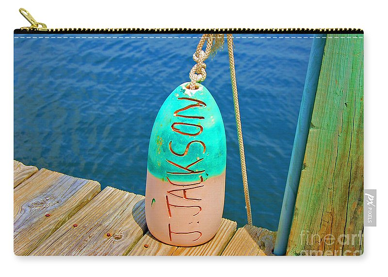 Water Carry-all Pouch featuring the photograph Its A Buoy by Debbi Granruth