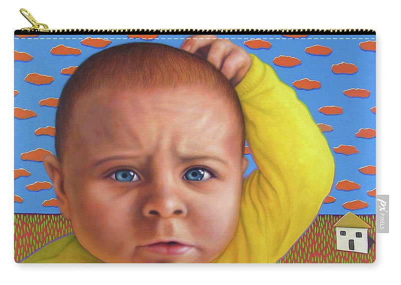 Confusing Carry-all Pouch featuring the painting It's A Confusing World by James W Johnson