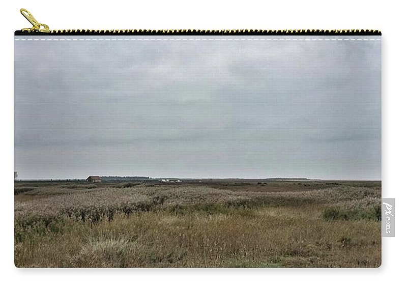 Natureonly Carry-all Pouch featuring the photograph It's A Grey Day In North Norfolk Today by John Edwards