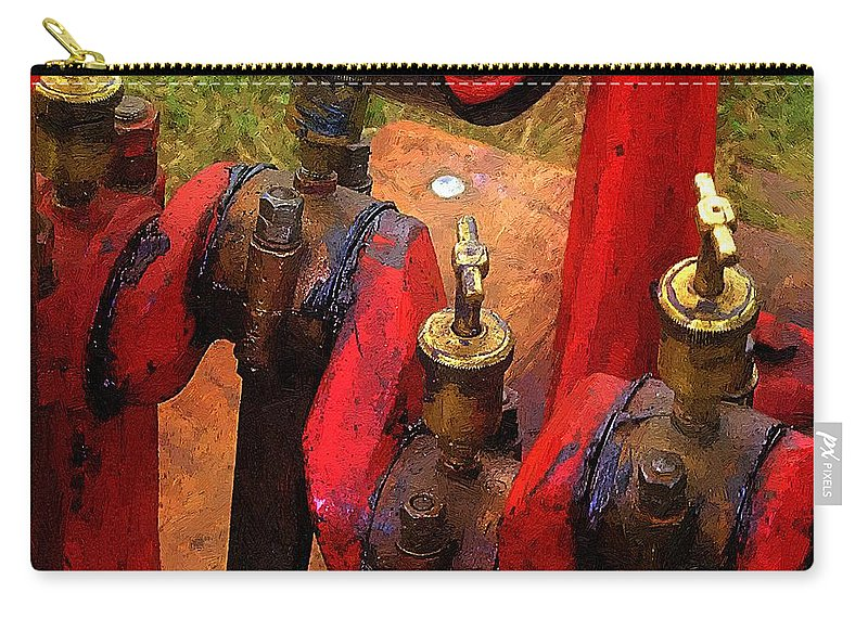Antique Carry-all Pouch featuring the painting It's A Guy Thing by RC DeWinter