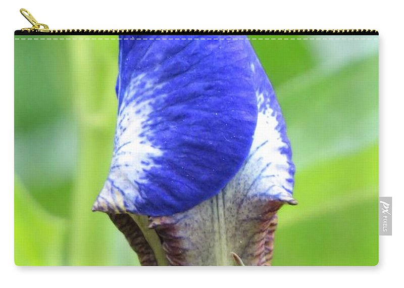 Iris Carry-all Pouch featuring the photograph It's A Wrap - Iris Bud by MTBobbins Photography