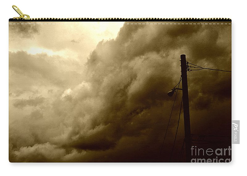 Clay Carry-all Pouch featuring the photograph It's Coming by Clayton Bruster