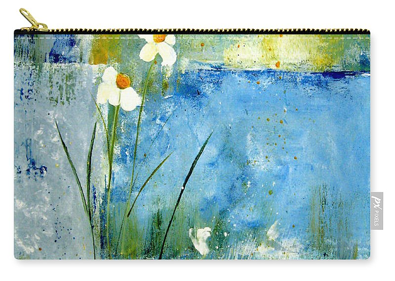 Abstract Carry-all Pouch featuring the painting It's Just You And Me by Ruth Palmer