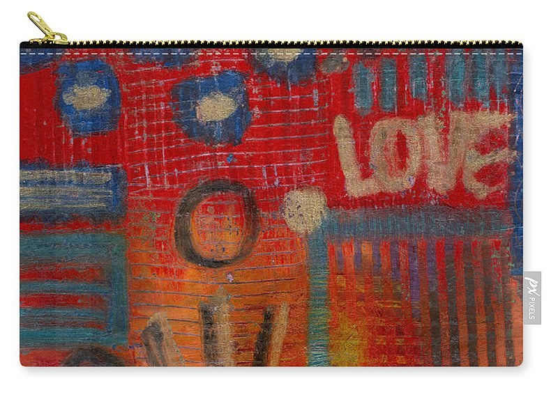 Gretting Cards Carry-all Pouch featuring the mixed media It's Love by Angela L Walker