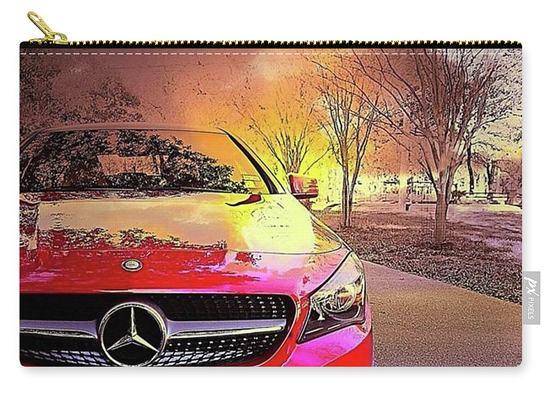 Mbusa Carry-all Pouch featuring the photograph It's #mercedes Monday And I Am A by Austin Tuxedo Cat