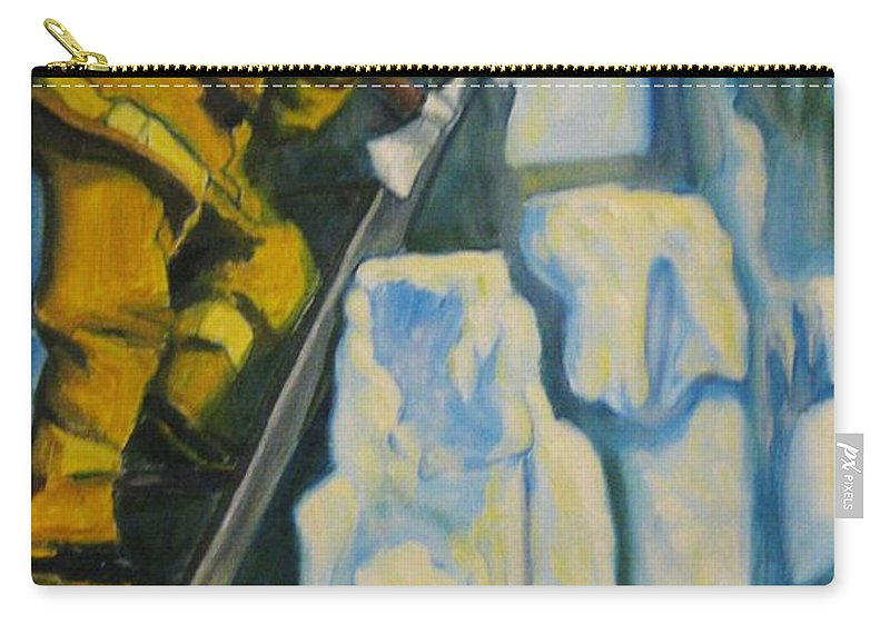 Firefighters Carry-all Pouch featuring the painting Its Not Over Till Its Over by John Malone