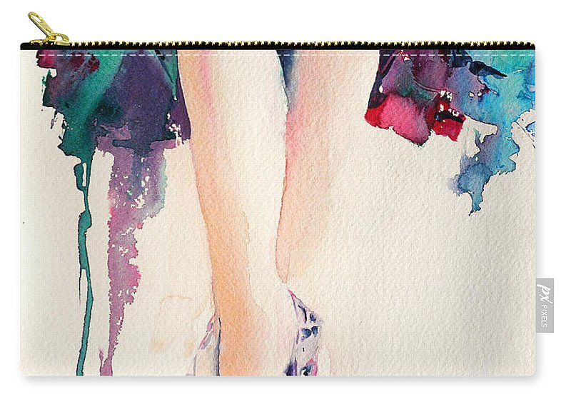 Legs Carry-all Pouch featuring the painting It's Party Time by Stephie Butler