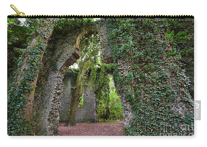 Travel Carry-all Pouch featuring the photograph Ivy Clad Ruin by Louise Heusinkveld