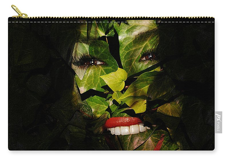 Clay Carry-all Pouch featuring the digital art Ivy Glamour by Clayton Bruster