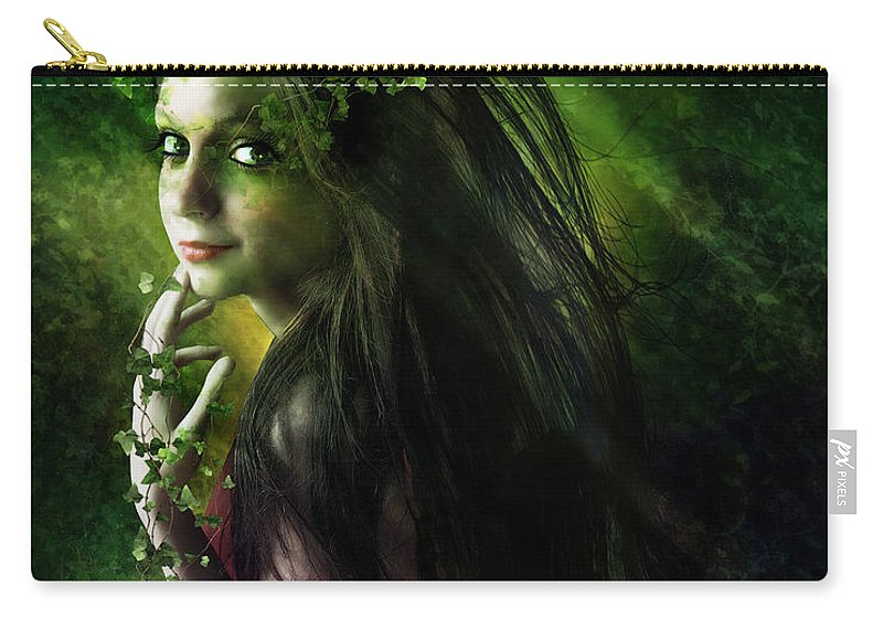 Woman Carry-all Pouch featuring the digital art Ivy by Karen Koski