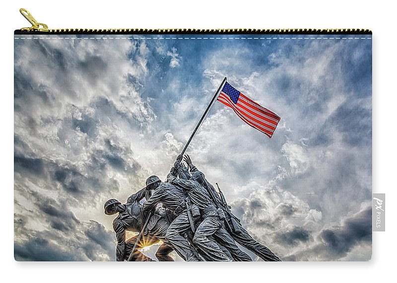 Iwo Jima Carry-all Pouch featuring the photograph Iwo Jima Memorial by Susan Candelario