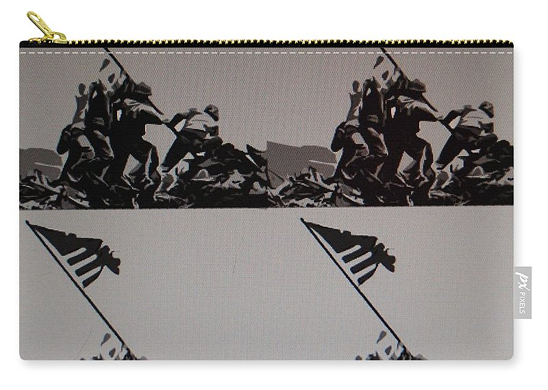 Pop Art Carry-all Pouch featuring the photograph Iwo Jima by Rob Hans