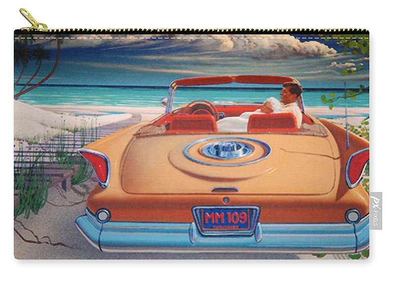 Jfk Carry-all Pouch featuring the photograph J F K And M M by Rob Hans