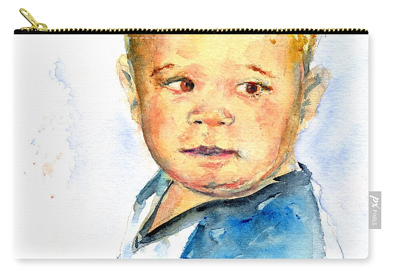 Portrait Carry-all Pouch featuring the painting Jack by John D Benson