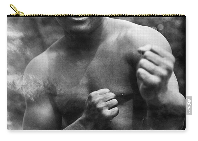 1910s Carry-all Pouch featuring the photograph Jack Johnson (1878-1946) by Granger