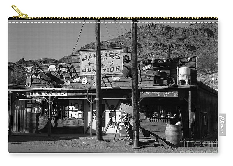 Arizona Carry-all Pouch featuring the photograph Jackass Junction by David Lee Thompson