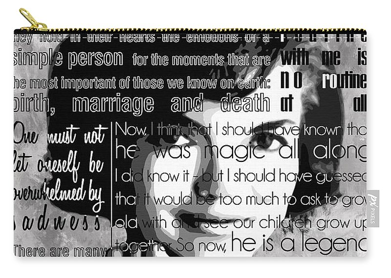 Jackie Kennedy Motivational Inspirational Independent Quotes Carry-all Pouch