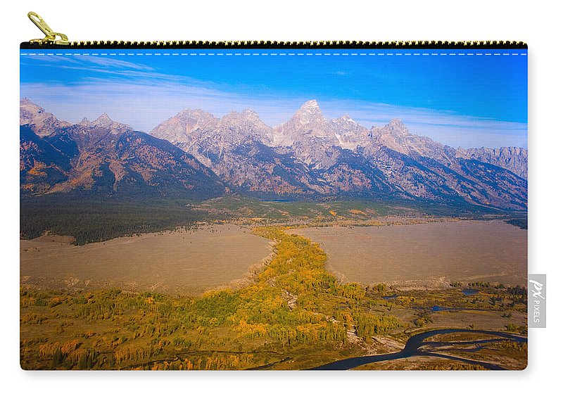 Tetons Carry-all Pouch featuring the photograph Jackson Hole Wy Tetons National Park Views by James BO Insogna
