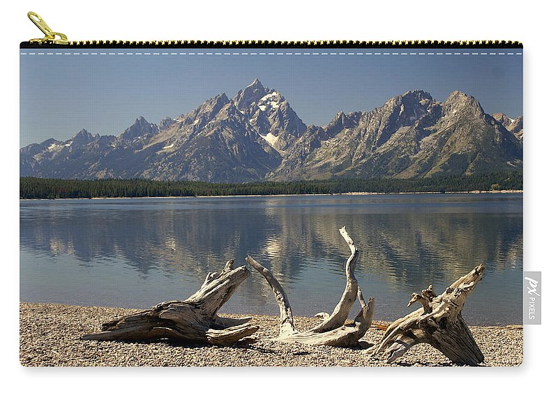 Grand Teton National Park Carry-all Pouch featuring the photograph Jackson Lake 1 by Marty Koch