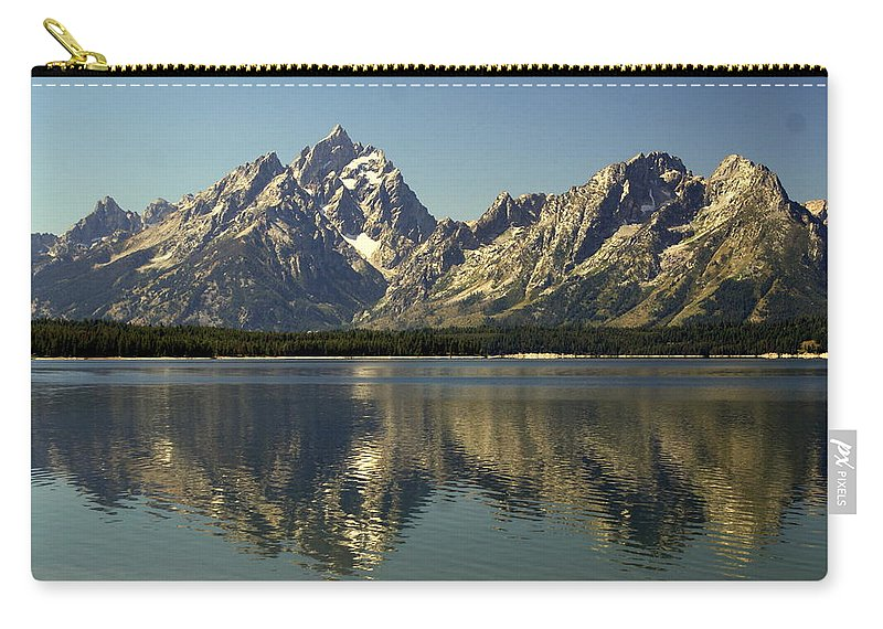Grand Teton National Park Carry-all Pouch featuring the photograph Jackson Lake 2 by Marty Koch
