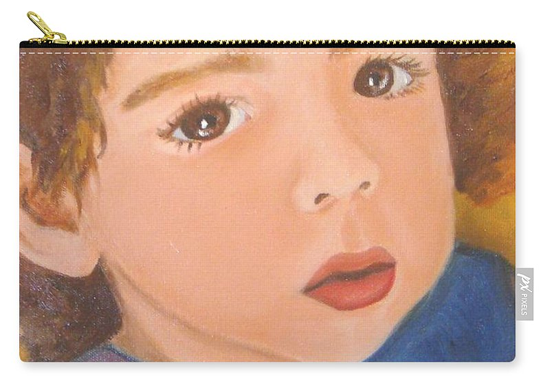 Portrait Carry-all Pouch featuring the painting Jackson by Laurie Morgan