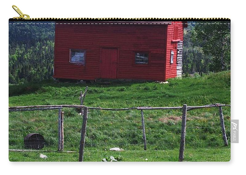 Photograph Newfoundland Jackson Cove Boat Grass Carry-all Pouch featuring the photograph Jackson's Cove by Seon-Jeong Kim