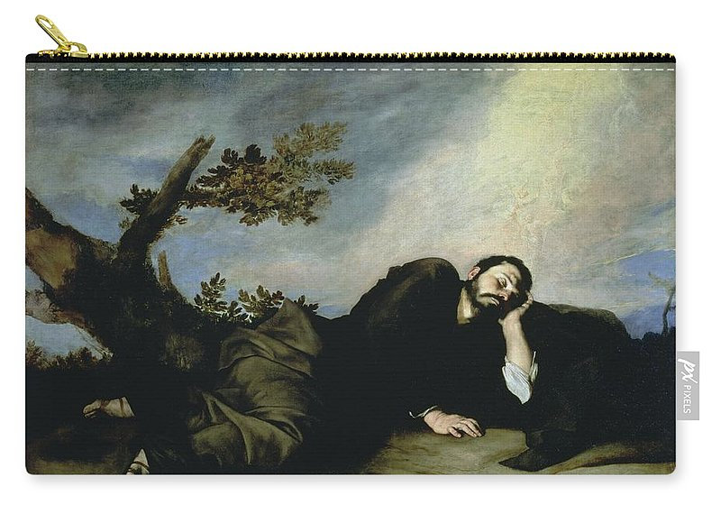 Jacob's Dream Carry-all Pouch featuring the painting Jacobs Dream by Jusepe de Ribera