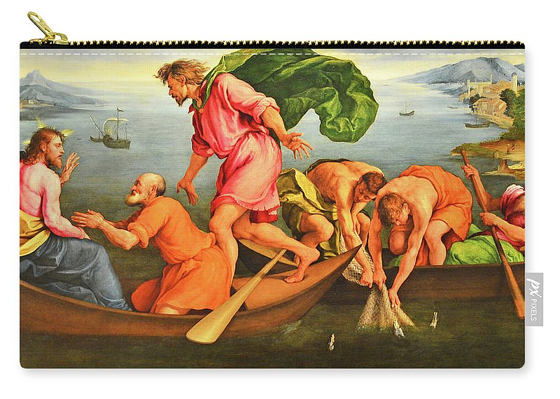 Jacopo Bassano Carry-all Pouch featuring the photograph Jacopo Bassano Fishes Miracle by Munir Alawi