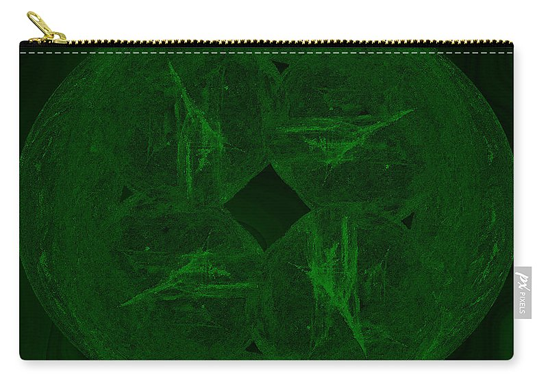 Abstract Carry-all Pouch featuring the digital art Jade by Diane Parnell