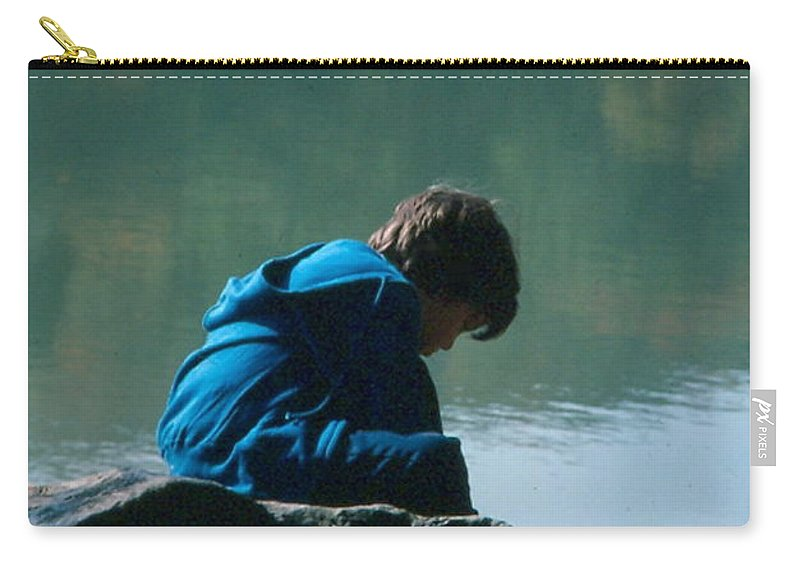 Silhouette Carry-all Pouch featuring the photograph Jadon Pondering by Penny Neimiller