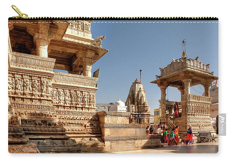 Jagdish Temple Carry-all Pouch featuring the photograph Jagdish Hindu Temple, Udaipur by Doug Matthews