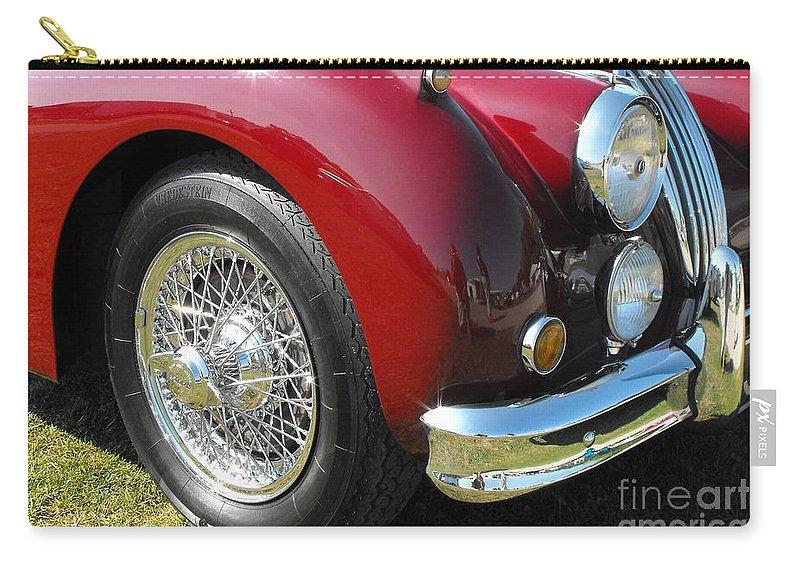 Jaguar Carry-all Pouch featuring the photograph Jaguar Xk Series by Neil Zimmerman