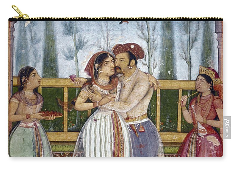 1615 Carry-all Pouch featuring the photograph Jahangir (1569-1627) by Granger