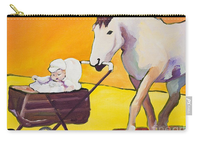 Animal Carry-all Pouch featuring the painting Jake by Pat Saunders-White