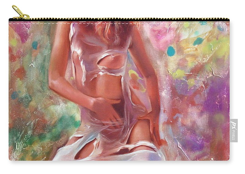 Ignatenko Carry-all Pouch featuring the painting Jam by Sergey Ignatenko